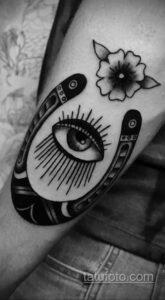 Фото рисунока тату с подковой 22.07.2021 №220 - drawing tattoo horseshoe - tatufoto.com