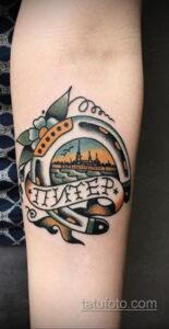 Фото рисунока тату с подковой 22.07.2021 №234 - drawing tattoo horseshoe - tatufoto.com