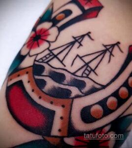 Фото рисунока тату с подковой 22.07.2021 №268 - drawing tattoo horseshoe - tatufoto.com