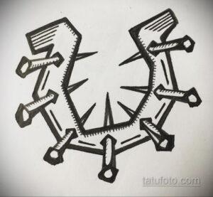 Фото рисунока тату с подковой 22.07.2021 №303 - drawing tattoo horseshoe - tatufoto.com