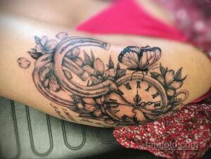 Фото рисунока тату с подковой 22.07.2021 №310 - drawing tattoo horseshoe - tatufoto.com