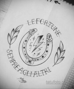 Фото рисунока тату с подковой 22.07.2021 №343 - drawing tattoo horseshoe - tatufoto.com