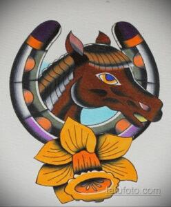 Фото рисунока тату с подковой 22.07.2021 №350 - drawing tattoo horseshoe - tatufoto.com