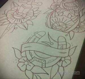 Фото рисунока тату с подковой 22.07.2021 №370 - drawing tattoo horseshoe - tatufoto.com