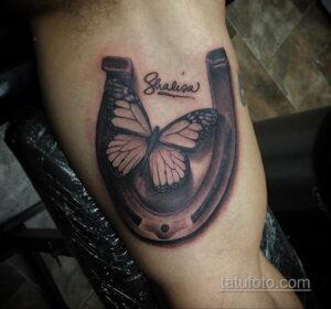 Фото рисунока тату с подковой 22.07.2021 №371 - drawing tattoo horseshoe - tatufoto.com