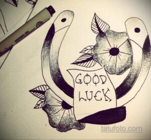 Фото рисунока тату с подковой 22.07.2021 №374 - drawing tattoo horseshoe - tatufoto.com