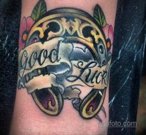 Фото рисунока тату с подковой 22.07.2021 №377 - drawing tattoo horseshoe - tatufoto.com