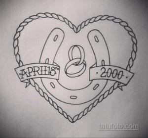Фото рисунока тату с подковой 22.07.2021 №382 - drawing tattoo horseshoe - tatufoto.com