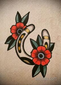 Фото рисунока тату с подковой 22.07.2021 №394 - drawing tattoo horseshoe - tatufoto.com