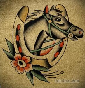 Фото рисунока тату с подковой 22.07.2021 №402 - drawing tattoo horseshoe - tatufoto.com