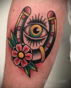 Фото рисунока тату с подковой 22.07.2021 №429 - drawing tattoo horseshoe - tatufoto.com