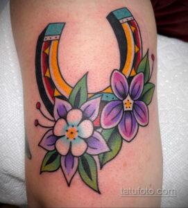Фото рисунока тату с подковой 22.07.2021 №437 - drawing tattoo horseshoe - tatufoto.com