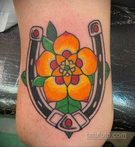 Фото рисунока тату с подковой 22.07.2021 №468 - drawing tattoo horseshoe - tatufoto.com