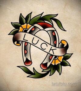 Фото рисунока тату с подковой 22.07.2021 №470 - drawing tattoo horseshoe - tatufoto.com