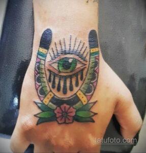 Фото рисунока тату с подковой 22.07.2021 №473 - drawing tattoo horseshoe - tatufoto.com