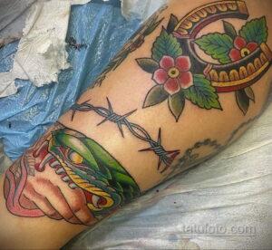 Фото рисунока тату с подковой 22.07.2021 №485 - drawing tattoo horseshoe - tatufoto.com