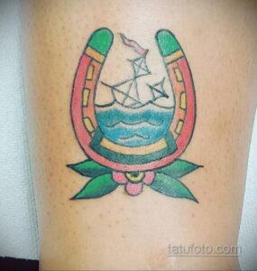 Фото рисунока тату с подковой 22.07.2021 №495 - drawing tattoo horseshoe - tatufoto.com