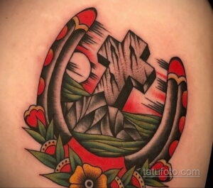 Фото рисунока тату с подковой 22.07.2021 №496 - drawing tattoo horseshoe - tatufoto.com