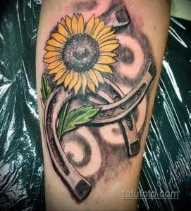 Фото рисунока тату с подковой 22.07.2021 №516 - drawing tattoo horseshoe - tatufoto.com