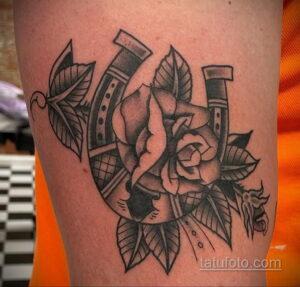 Фото рисунока тату с подковой 22.07.2021 №519 - drawing tattoo horseshoe - tatufoto.com