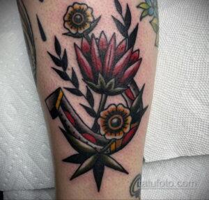 Фото рисунока тату с подковой 22.07.2021 №528 - drawing tattoo horseshoe - tatufoto.com