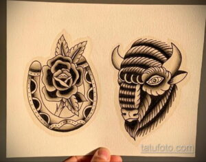 Фото рисунока тату с подковой 22.07.2021 №545 - drawing tattoo horseshoe - tatufoto.com