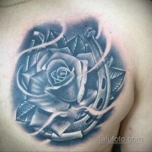 Фото рисунока тату с подковой 22.07.2021 №547 - drawing tattoo horseshoe - tatufoto.com