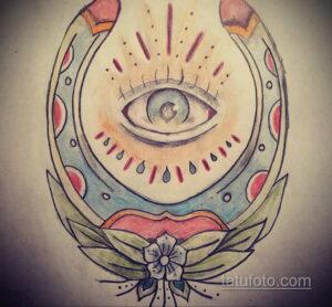 Фото рисунока тату с подковой 22.07.2021 №551 - drawing tattoo horseshoe - tatufoto.com