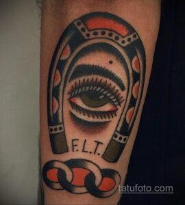 Фото рисунока тату с подковой 22.07.2021 №563 - drawing tattoo horseshoe - tatufoto.com