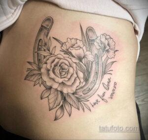 Фото рисунока тату с подковой 22.07.2021 №565 - drawing tattoo horseshoe - tatufoto.com