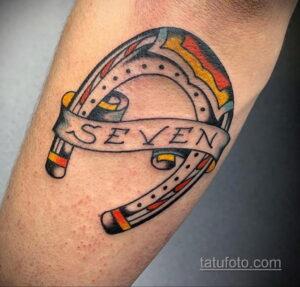 Фото рисунока тату с подковой 22.07.2021 №588 - drawing tattoo horseshoe - tatufoto.com