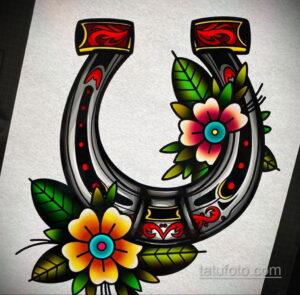 Фото рисунока тату с подковой 22.07.2021 №629 - drawing tattoo horseshoe - tatufoto.com
