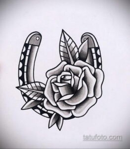 Фото рисунока тату с подковой 22.07.2021 №630 - drawing tattoo horseshoe - tatufoto.com