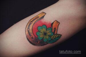 Фото рисунока тату с подковой 22.07.2021 №651 - drawing tattoo horseshoe - tatufoto.com
