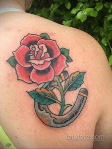 Фото рисунока тату с подковой 22.07.2021 №653 - drawing tattoo horseshoe - tatufoto.com