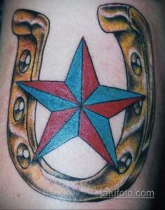 Фото рисунока тату с подковой 22.07.2021 №664 - drawing tattoo horseshoe - tatufoto.com