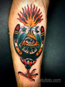Фото рисунока тату с подковой 22.07.2021 №670 - drawing tattoo horseshoe - tatufoto.com