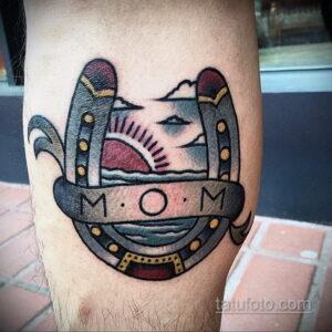 Фото рисунока тату с подковой 22.07.2021 №706 - drawing tattoo horseshoe - tatufoto.com
