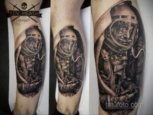 Фото тату астронавт 17.07.2021 №212 - astronaut tattoo - tatufoto.com