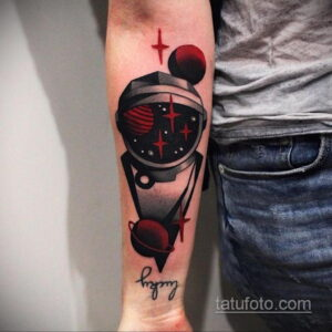 Фото тату астронавт 17.07.2021 №214 - astronaut tattoo - tatufoto.com
