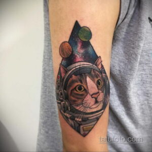 Фото тату астронавт 17.07.2021 №220 - astronaut tattoo - tatufoto.com