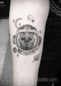 Фото тату астронавт 17.07.2021 №221 - astronaut tattoo - tatufoto.com