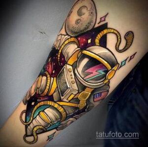 Фото тату астронавт 17.07.2021 №226 - astronaut tattoo - tatufoto.com