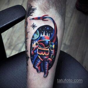 Фото тату астронавт 17.07.2021 №228 - astronaut tattoo - tatufoto.com