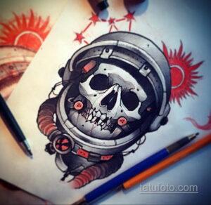 Фото тату астронавт 17.07.2021 №244 - astronaut tattoo - tatufoto.com