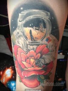 Фото тату астронавт 17.07.2021 №245 - astronaut tattoo - tatufoto.com