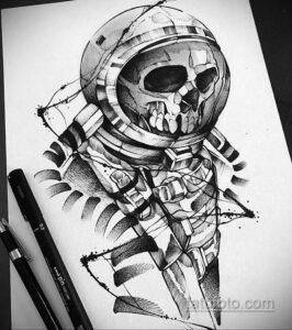 Фото тату астронавт 17.07.2021 №248 - astronaut tattoo - tatufoto.com