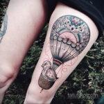 Тату с воздушным шаром