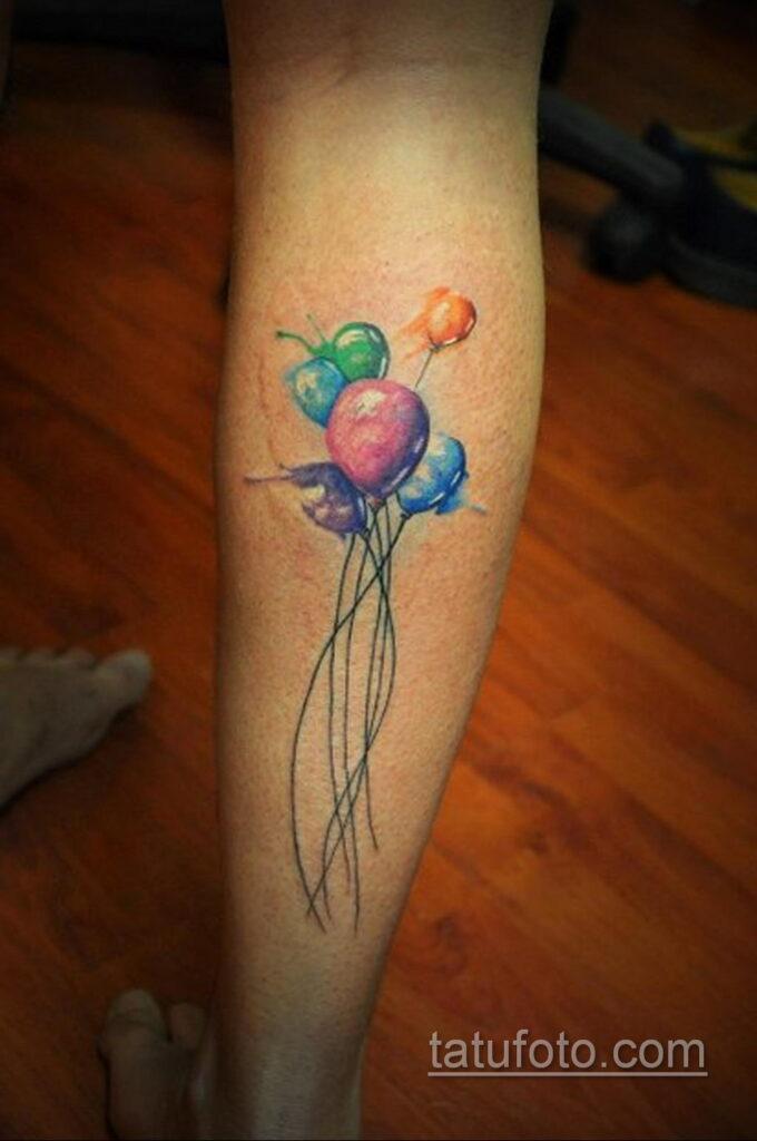 Фото тату воздушный шар 05.07.2021 №416 - balloon tattoo - tatufoto.com