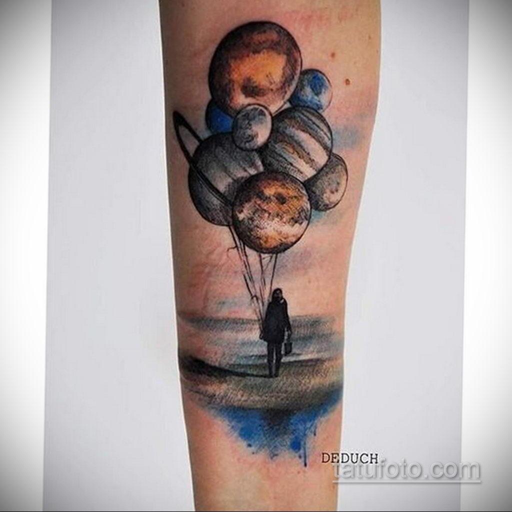 Фото тату воздушный шар 05.07.2021 №420 - balloon tattoo - tatufoto.com